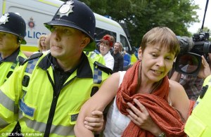Caroline Lucas, the Green party's only MP, was arrested for protesting fracking