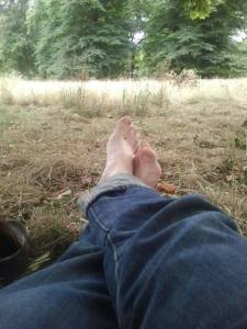 My feet. Kensington Gardens. 2013.