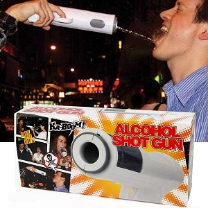 This is a real thing you can buy here: http://www.mgdirect.co/Alcohol-Shot-Gun_p_2054.html