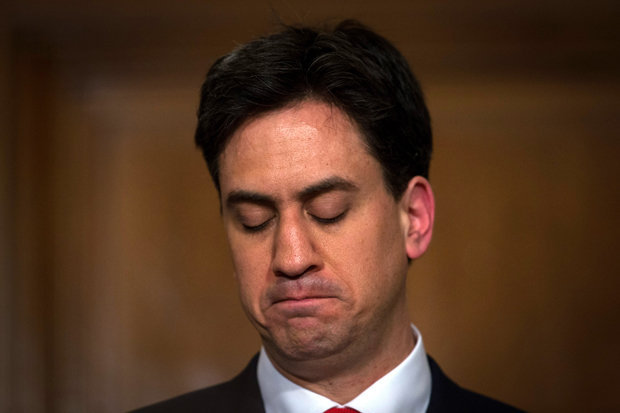 After leading his party to an unexpected and blistering loss, Labour leader Ed Miliband resigned on Friday. Photo: The Daily Star